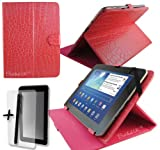 Rose Pink Crocodile Leather Case Cover Stand for ARGOS BUSH MYTABLET2 8' 8 inch Tablet PC + Screen Protector + Stylus Pen