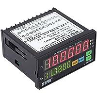 KKmoon Digital Controller Celle di Carico Indicatore di Pesatura 1-4 Carico Cellulare Segnali Input 2 Relè Uscita 6 Cifre Display a LED - Segnale Indicatore
