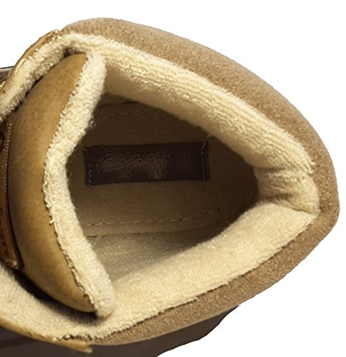 Chaussures hiver, chaussures femme doublées, bottes hiver, chaussures trekking, modèle 13084112018094, différents modèles et tailles. Beige-brillant semi-haute.