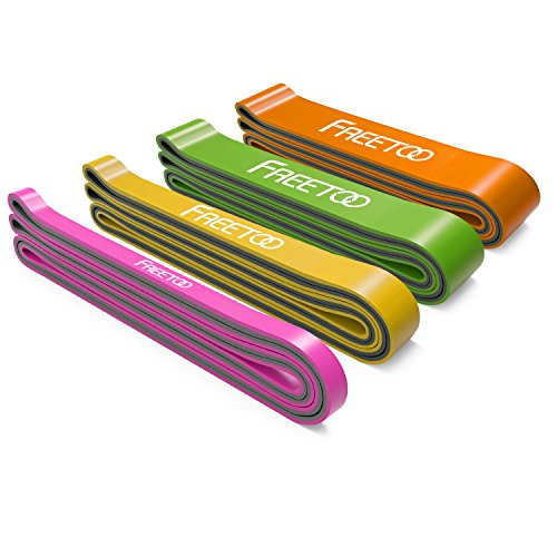 FREETOO Resistance Band Fitnessbänder professionelle Latex Widerstand Bänder Pull-Up Bänder Klimmzughilfe für Bodybuilding/Yoga/Krafttraining/Crossfit in 4 Stärken (G)