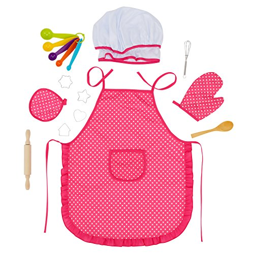 Glonova Conjunto Chef para Niños 17pcs Juguetes de Cocina...