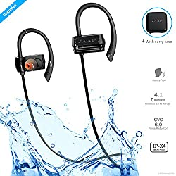 Zaap Aqua Activ Bluetooth Headphone With Carry Case Ip-X4 With 4.1 Bluetooth Technology (Black)