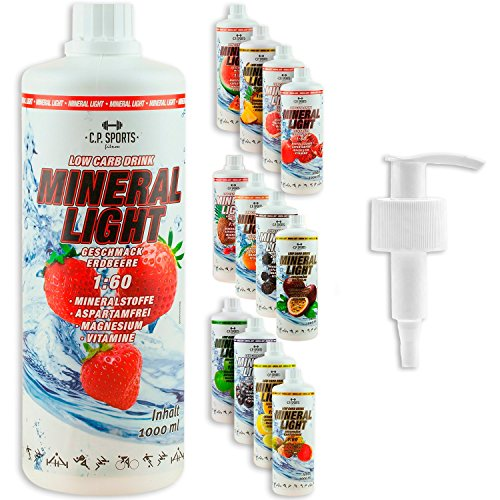 C.P. Sports Mineral Light Getränke Sirup Electrolyte Konzentrat 1 Liter Brombeere inkl. DOSIERSPENDER