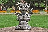 Figura per il Giardino! Drago medito! Decorazione! Figura! Giardino! Yoga!