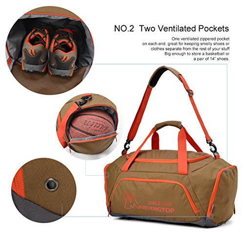 6a0bf2c62a66c ... Mardingtop 40L Sporttasche Duffle Tasche Reisetasche Gym Bag Fitness  Tasche Umhängetasche für Damen und Herren Schwarz ...
