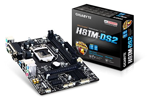 Gigabyte GAH81MDS2-00-G - Placa base Intel H81 (Socket 1150, 2DDR3, 16 GB, VGA, 2 sata3, 2 USB3)