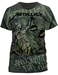 Metallica (Justice Neon All Over) T-shirt (All over print)