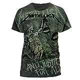 T-Shirt - Metallica Justice Neon - Unisex - MEDIUM - CIDPEMTL09903 - CID