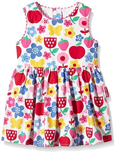 Toby Tiger Mädchen Kleid Butterfly Flower Summer Party Dress, Mehrfarbig (Red/Blue/Pink/Yellow/Green/White), 5-6 Jahr