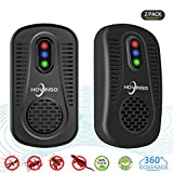 Ultrasonic Pest Repeller 2pack by Hovinso Pest Insects Control,Mouse Repellent,plug in Insect Repellent|100%