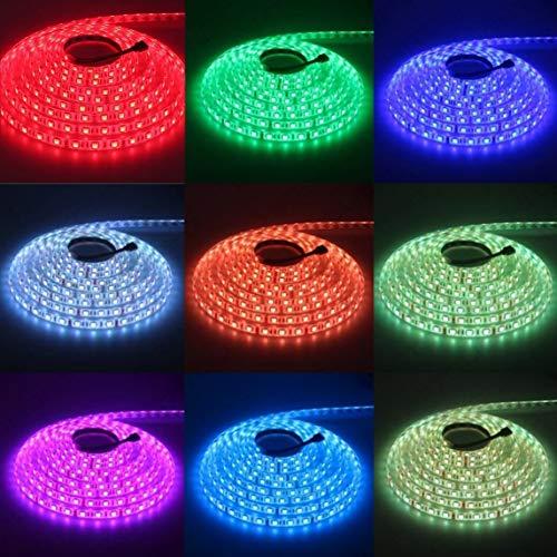 Footprintse Smart 24 Keys Wifi Control Waterproof RGB Colorido LED Strip Lights Set -color: blanco y negro