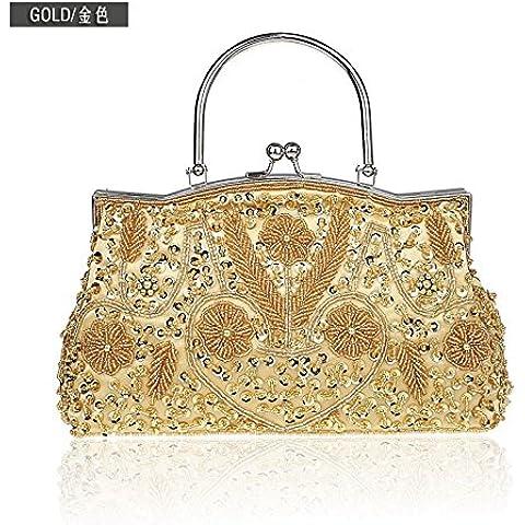 Giglio Vintage borse a perline ricamato Borsa serale sposa nel sacco