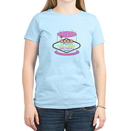 CafePress - Las Vegas Birthday Cake - Womens Crew Neck Cotton T-Shirt, Comfortable & Soft Classic Tee
