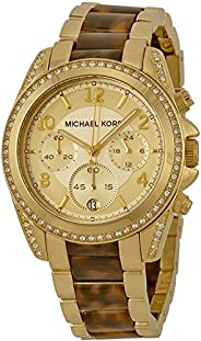 Micheal Kors Women's Quartz Watch With Chronograph Quartz Stainless Steel Mk6094, Multicolour