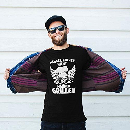 51yj Poy38L - vanVerden Herren Fun T-Shirt Männer Kochen Nicht Grillen Grillmeister Plus Geschenkkarte, Größe:XXL, Farbe:Schwarz