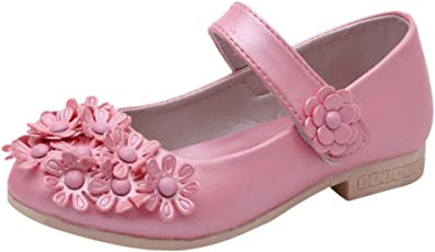 Voberry Voberry Baby-Girl's Soft Sole Bowknot Mary Jane Flat Sandals