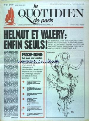 QUOTIDIEN DE PARIS (LE) [No 42] du 23/05...