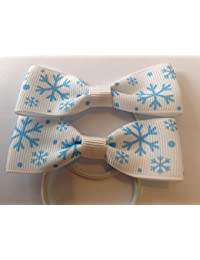 Frozen Snow Flake Frozen ribbon girls fashion boutique hair bows accessories baby girl