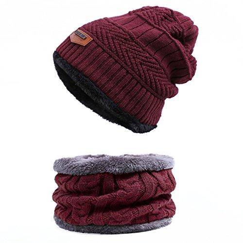 Back Packers Winter Warme Mütze Stricken Im Freien Plüsch Verdickung Strickmütze Ski Hut Für Winter Unisex Herren/Frauen (Beige Ski Hose)