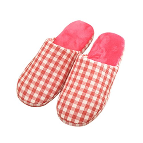Meijunter Plaid Doux Chaud Accueil Chaussons Anti-slip Coton Chaussures Indoor pink