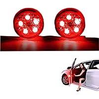 2 PCS Autotür Warnleuchte, Universal Wasserdichte Drahtlose Auto Tür Licht LED Strobe Flicker Anti Heck Kollision Signal Licht (Rot)