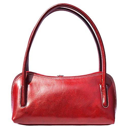 Schulter- und Handtasche mit Doppelgriff 6886 Rot