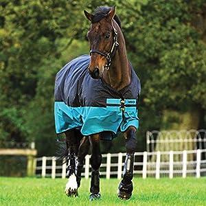 Horseware Amigo Mio Turnout medium black turquoise Weidedecke Winterdecke (125)