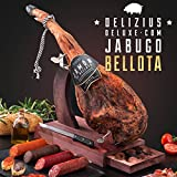 6 kg Serrano Spanish IBERIAN Ham Set (hind leg) + 1Kg Spanish sausages + 1 ham stand + 2 ham slicer + 1 sharpener