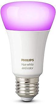 Philips Hue White and Color Ambiance Lampadina LED Singola, E27, 9.5 W, senza Bridge, Argento, 1 Pezzo