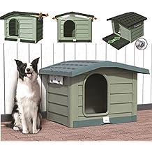 PET-BAMA caseta para perro para perros BUNGALOW Verde