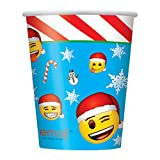 255Emoji Navidad vasos de papel, pack de 8