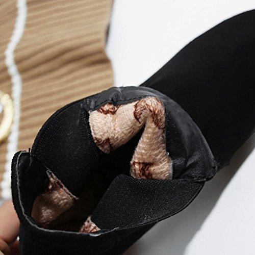 Heheja Donna Scarpa Moda Caldo Stivaletti Tempo Libero Inverno Stivali Da Neve Nero