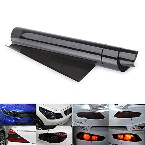 Scheinwerfer Folie Auto Tönungsfolie Aufkleber 30 * 120cm wasserdicht Nebelscheinwerfer Rückleuchten Blinker (Schwarz)