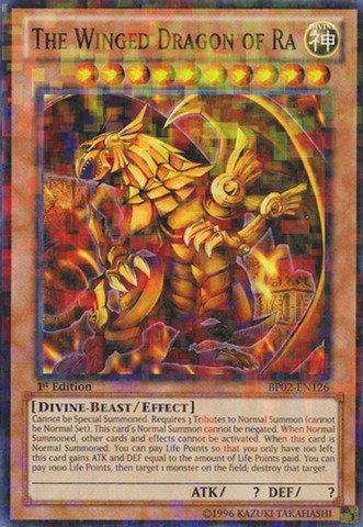 Yu-Gi-Oh! - The Winged Dragon of Ra (BP02-EN126) - Battle Pack 2: War of the Giants - Unlimited Edition - Mosaic Rare by Yu-Gi-Oh!