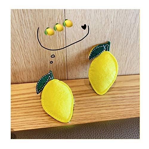 ISKYBOB 2 Piezas Broches Lindos Forma Limón Simulado