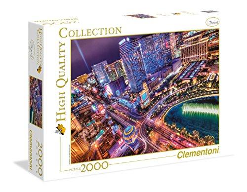 Clementoni - Puzzle 2000 Piezas Las Vegas (32555)