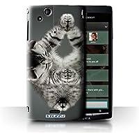 Custodia/Cover Rigide/Prottetiva STUFF4 stampata con il disegno Gattini per Sony