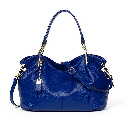 BOSTANTEN Designer Leather Satchel Borse Della Spalla Del Tote Della Croce Body Bags Per Le Donne Blu