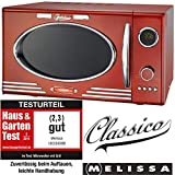 Adexi Melissa 163-30088/900 W/25 l/Design micro-ondes avec grill/four micro-ondes Rouge