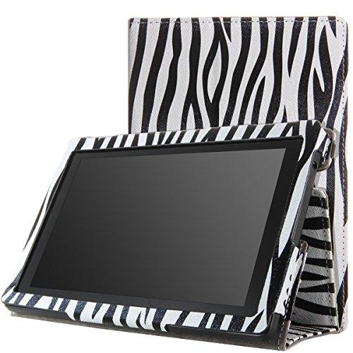 MoKo PU Leder Ständer Hülle Schutzhülle Tasche Ledertasche Schale Smart Case für Amazon All New Kindle Fire HD 7 Zoll 2013 Gen Tablet,Zebra (Nicht für Kindle Fire HD 7 2012/Fire HDX 7 2013)