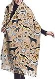 Scialle nappe calde eleganti da donna Scialle per cani Gatti e cani Morbida coperta invernale Scialle avvolgente