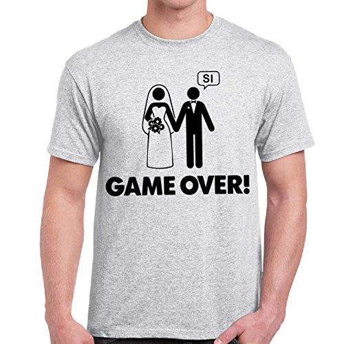 T-Shirt Divertenti Uomo Maglietta Ironica Addio Al Celibato Matrimonio Game Ove Chemagliette! Cenere