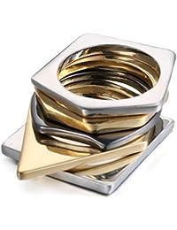 Las señoras de la manera de la aleación suenan el anillo mezclado del color de la protección del medio ambiente