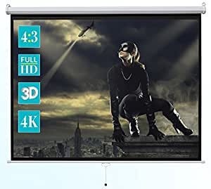 Ecran de projection manuel ivolum 240 x 180 cm, Ecran de projection Format 4:3, Ecran de projection Home Cinema, Ecran de projection pour videoprojecteur, Ecran de projection 3D, Ecran de projection manuel