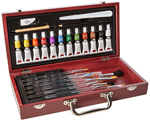 Royal and Langnickel Watercolour Wooden Box Set