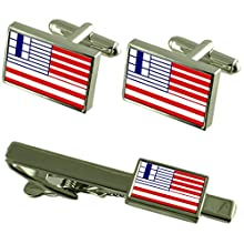 Select Gifts Vatican City Vatican Gold-Tone Flag Cufflinks Engraved Box