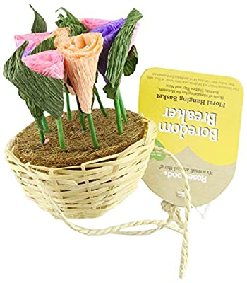 Rosewood Boredom Breaker Small Animal Activity Toy Floral Hanging Basket by ROSHP