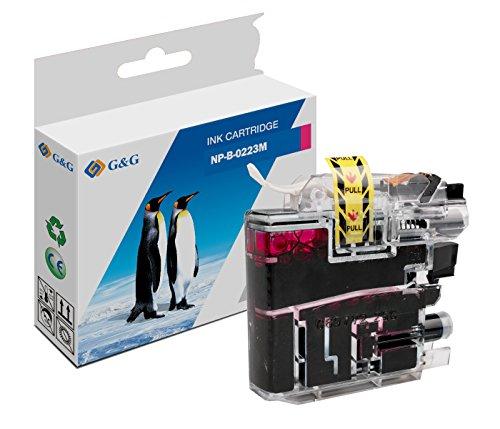 Premium G&G druckerpatrone magenta kompatibel für brother LC-223 (9ml)