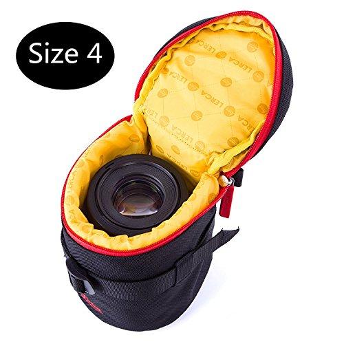 Huntvp Objektivtasche Neopren Kamera Objektiv Schutztasche Objektivköcher Wasserdicht Gepolstert ObjektivbeutelDSLR Kamera Schutzhülle Stoßfest Kordelzug Kameratasche für Kamera Objektiv und Zubehör - Haltbares Kordelzug