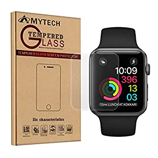 AmyTech Apple Watch Schutzfolie, Display Schutzfolie für Apple Watch 42mm 38mm iWatch Displayschutzfolie iWatch Schutzfolie 3 Stück Pro Set (42mm)